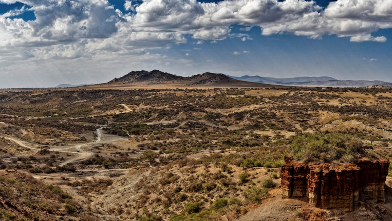 Olduvai Gorge and the monolith