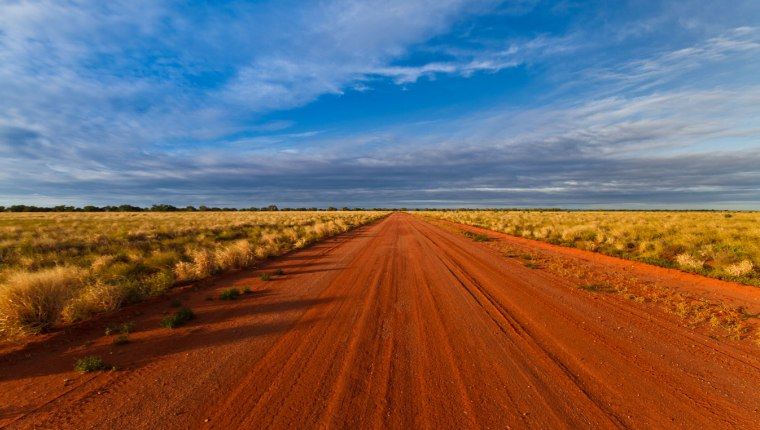 Outback road tracks